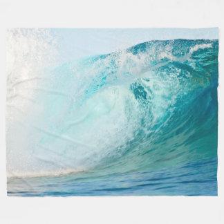 フリースブランケットを壊す太平洋の青い波 フリースブランケット