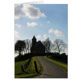 フリースラント州、オランダの丘のFrisian教会カード カード