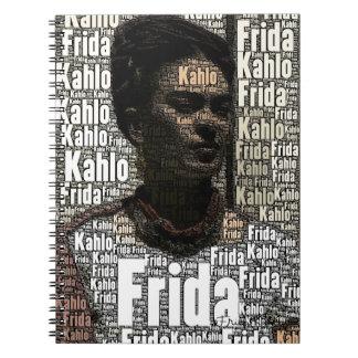 フリーダ・カーロのレタリングのポートレート ノートブック