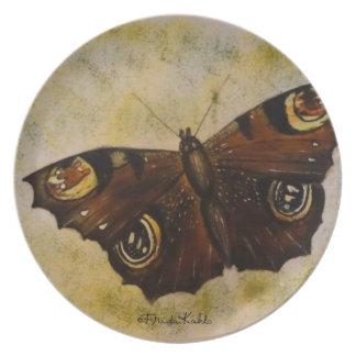 フリーダ・カーロは蝶を絵を描きました プレート