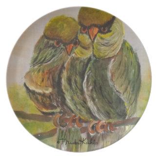 フリーダ・カーロは鳥を絵を描きました プレート