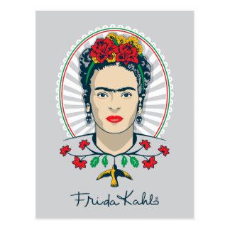 フリーダ・カーロ のヴィンテージの花柄 ポストカード