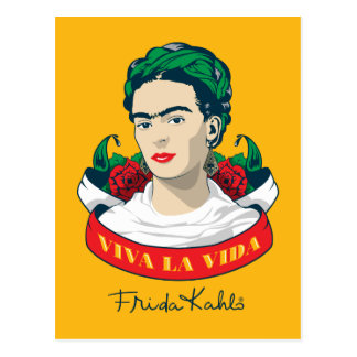 フリーダ・カーロ  Vivaのla Vida ポストカード