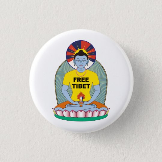フリーチベット缶バッジ 3.2CM 丸型バッジ