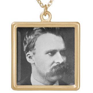 フリートリッヒウィルヘルムNietzsche (1844-1900年) 1873年(b/w ゴールドプレートネックレス