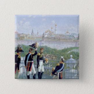 フリートリッヒWilhelm IIプロイセン王 5.1cm 正方形バッジ