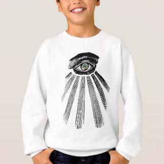 フリーメーソンのすべての見る目の正方形およびコンパス スウェットシャツ