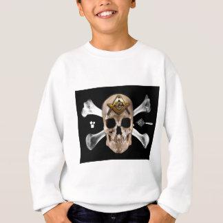 フリーメーソンのスカル及び骨のコンパスの正方形 スウェットシャツ