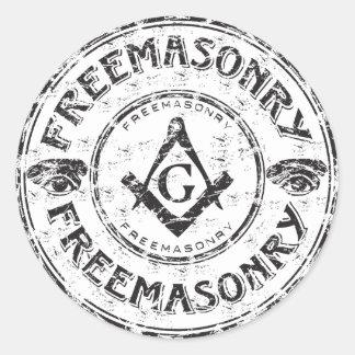 フリーメーソンのバンパーステッカー ラウンドシール