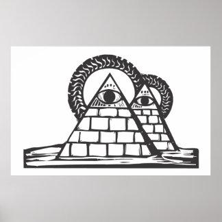 フリーメーソンのピラミッド ポスター