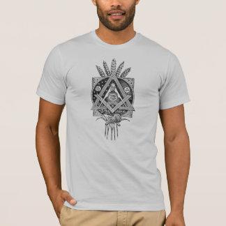 フリーメーソンのヴィンテージのプリントのTシャツの石大工のフリーメーソン会員 Tシャツ