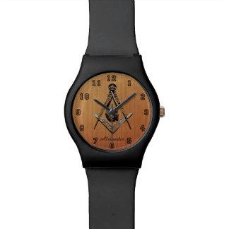 フリーメーソンの心(GoldenWooded) 腕時計
