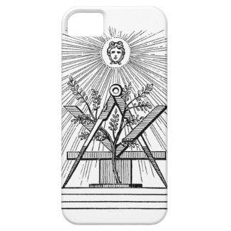 フリーメーソンの正方形およびコンパスのiPhoneカバー iPhone SE/5/5s ケース