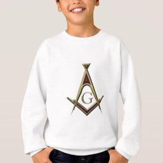 フリーメーソンの正方形及びコンパス スウェットシャツ