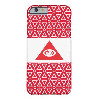 フリーメーソンの目の赤 BARELY THERE iPhone 6 ケース