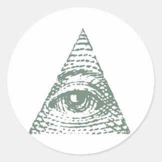 フリーメーソンの目 丸形シール・ステッカー