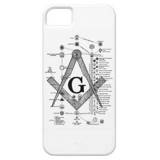フリーメーソンの程度の図表 iPhone SE/5/5s ケース