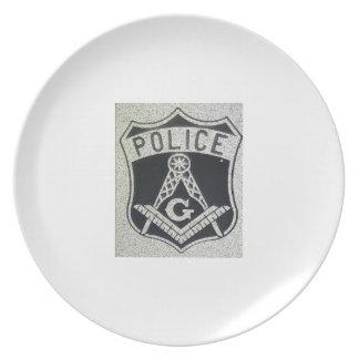 フリーメーソンの警察はめっきします プレート