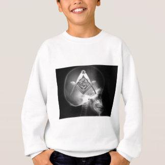 フリーメーソンのX線のエイリアンのスカル スウェットシャツ