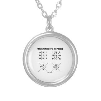 フリーメーソン会員の暗号(暗号解読法) シルバープレートネックレス