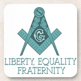 フリーメーソン会員の正方形及びコンパスの自由の平等Frater コースター