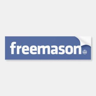 フリーメーソン会員、小さいS&CのFacebookのスタイルのロゴ バンパーステッカー