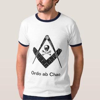 """フリーメーソン会員""""無秩序からの順序"""" Tシャツ"""