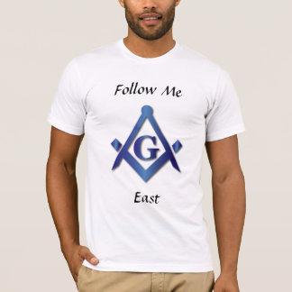 フリーメーソン会員-私を東後を追って下さい Tシャツ