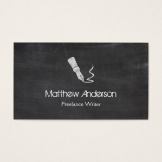 フリーランス・ライター-黒板の黒板の一見 名刺