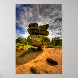 フルカラーの偶像の石HDRの写真 ポスター