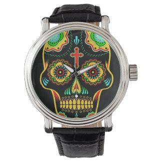 フルカラー砂糖のスカル 腕時計