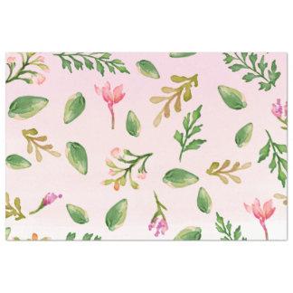 フルーアの群葉のグラデーションな水彩画のティッシュペーパー 薄葉紙