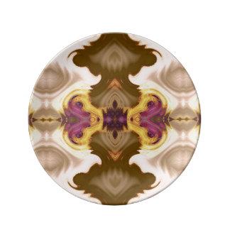 フルーアスクロール装飾的な磁器皿 磁器プレート