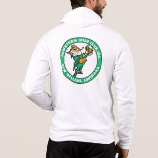 フルーアdelis/DIC Logo Whiteののジッパーのフード付きスウェットシャツ パーカ