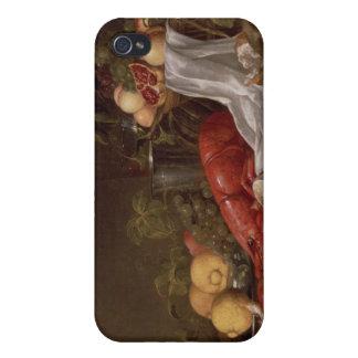 フルーツおよびロブスターの静物画 iPhone 4 COVER