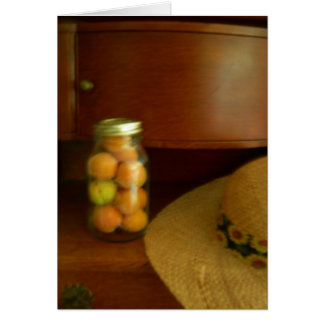 フルーツおよび日曜日の帽子の瓶 カード