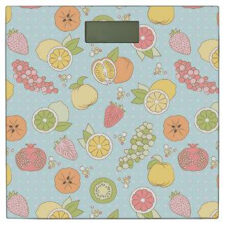 フルーツおよび果実が付いているパターン 体重計