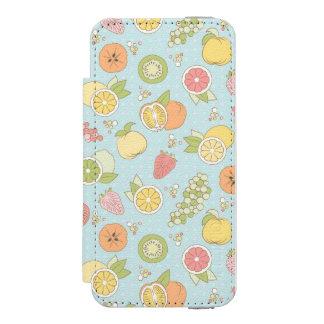 フルーツおよび果実が付いているパターン INCIPIO WATSON™ iPhone 5 財布 ケース