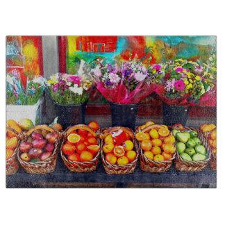 フルーツおよび花 カッティングボード