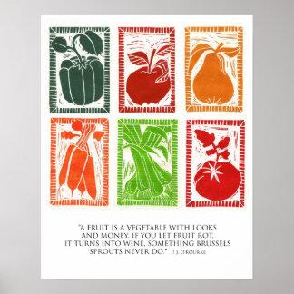 フルーツおよび野菜ポスター ポスター