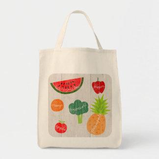 フルーツおよびVegの食料雑貨のトートバック トートバッグ