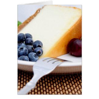 フルーツが付いているチーズケーキ カード