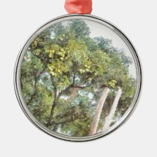 フルーツに耐える木 メタルオーナメント