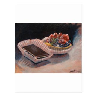 フルーツのおもしろい項目の鋭いファッジの絵画! ポストカード