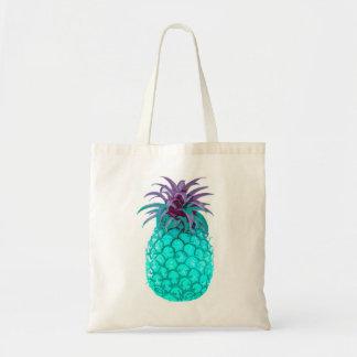 フルーツのようなティール(緑がかった色)のパイナップルトート トートバッグ