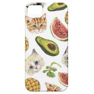 フルーツのような子猫およびアボカドのiPhone 5/5S、やっとそこに iPhone SE/5/5s ケース