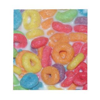 フルーツのような穀物 ノートパッド