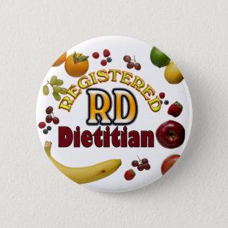 フルーツのようなRD -登録されていた栄養士 5.7CM 丸型バッジ