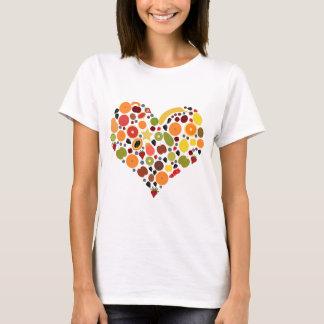 フルーツのハート Tシャツ