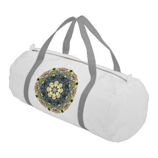 フルーツのボヘミアの目まぐるしく幾何学的な曼荼羅 ジムバッグ